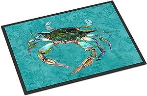 Caroline's Treasures 8657-JMAT Crab Indoor or Outdoor Mat 24x36 8657 Doormat, 24H X 36W, Multicolor
