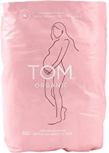 TOM Organic Maternity Pads with Certified Organic Cotton, Wingless and Elasticized, Postnatal, 12 count