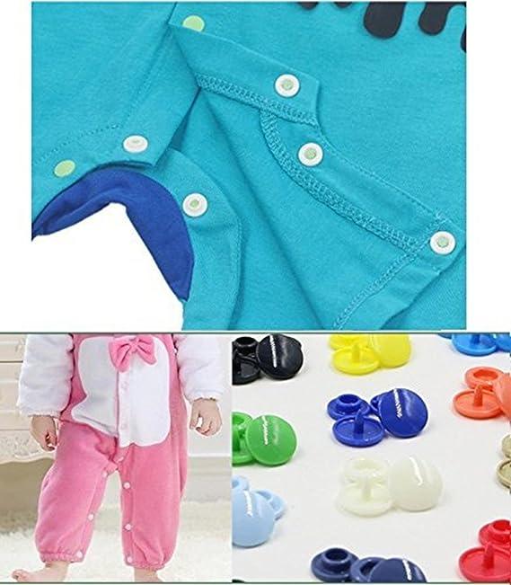 Botones Snap y Snap alicates Set por garloy, 150 pcs T5 bebé ropa broches y Snap Herramienta para Costura y manualidades, 10-Color bebé ropa Snaps para ...