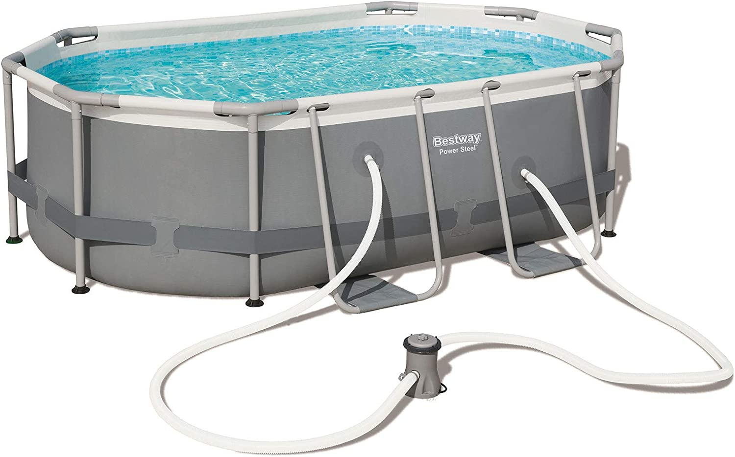 Bestway 56617 - Piscina Desmontable Tubular Power Steel Oval ...