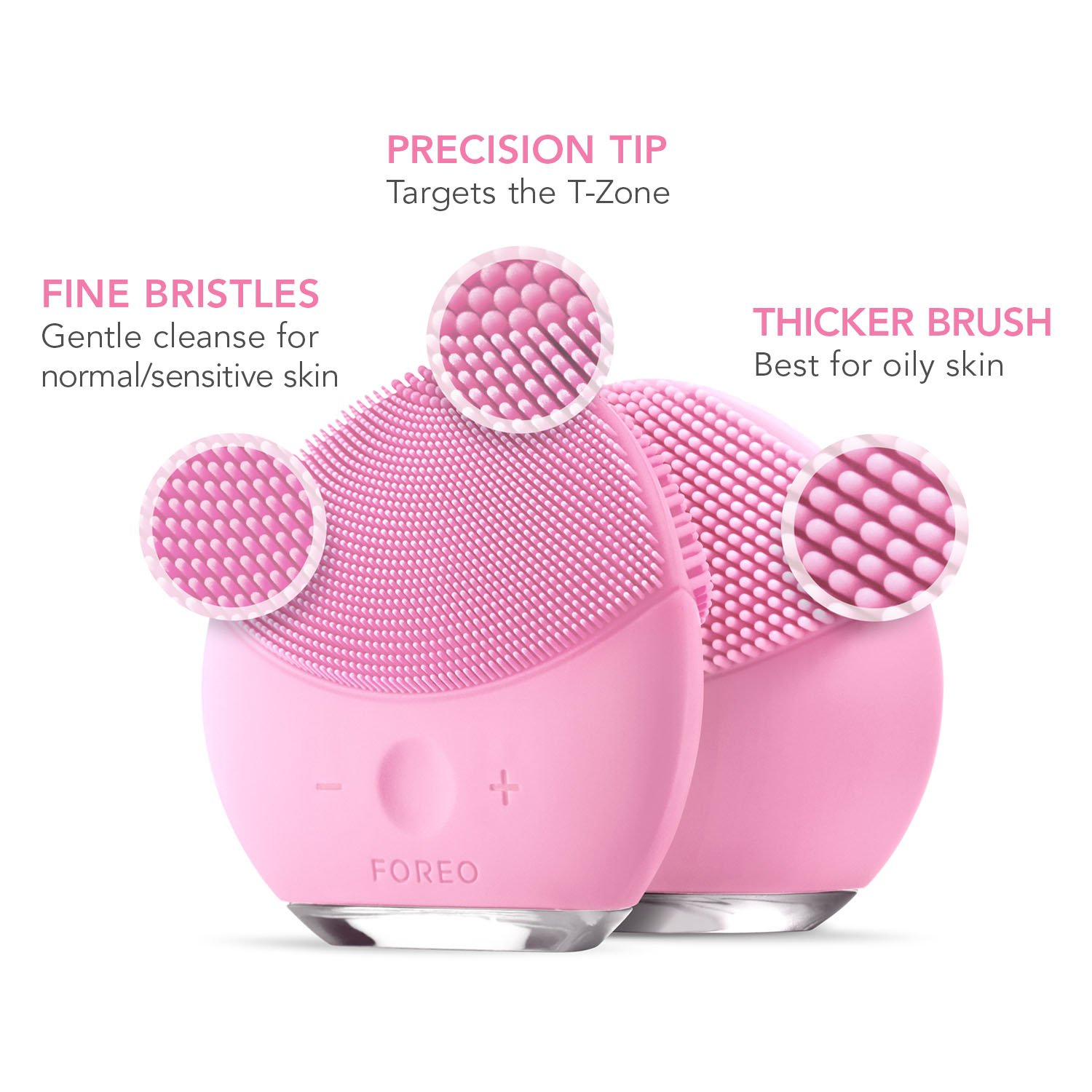 FOREO LUNA mini 2 Facial Cleansing Brush, Gentle Exfoliation and Sonic Cleansing for All Skin Types, Pearl Pink by FOREO (Image #7)