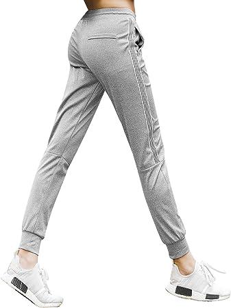 Roxzoom Pantalones Deportivos Para Mujer Ajustables Pantalones De Fitness Pantalones De Yoga Comoda Ropa Para Ejercicios Gris Talla Xxl Amazon Es Deportes Y Aire Libre