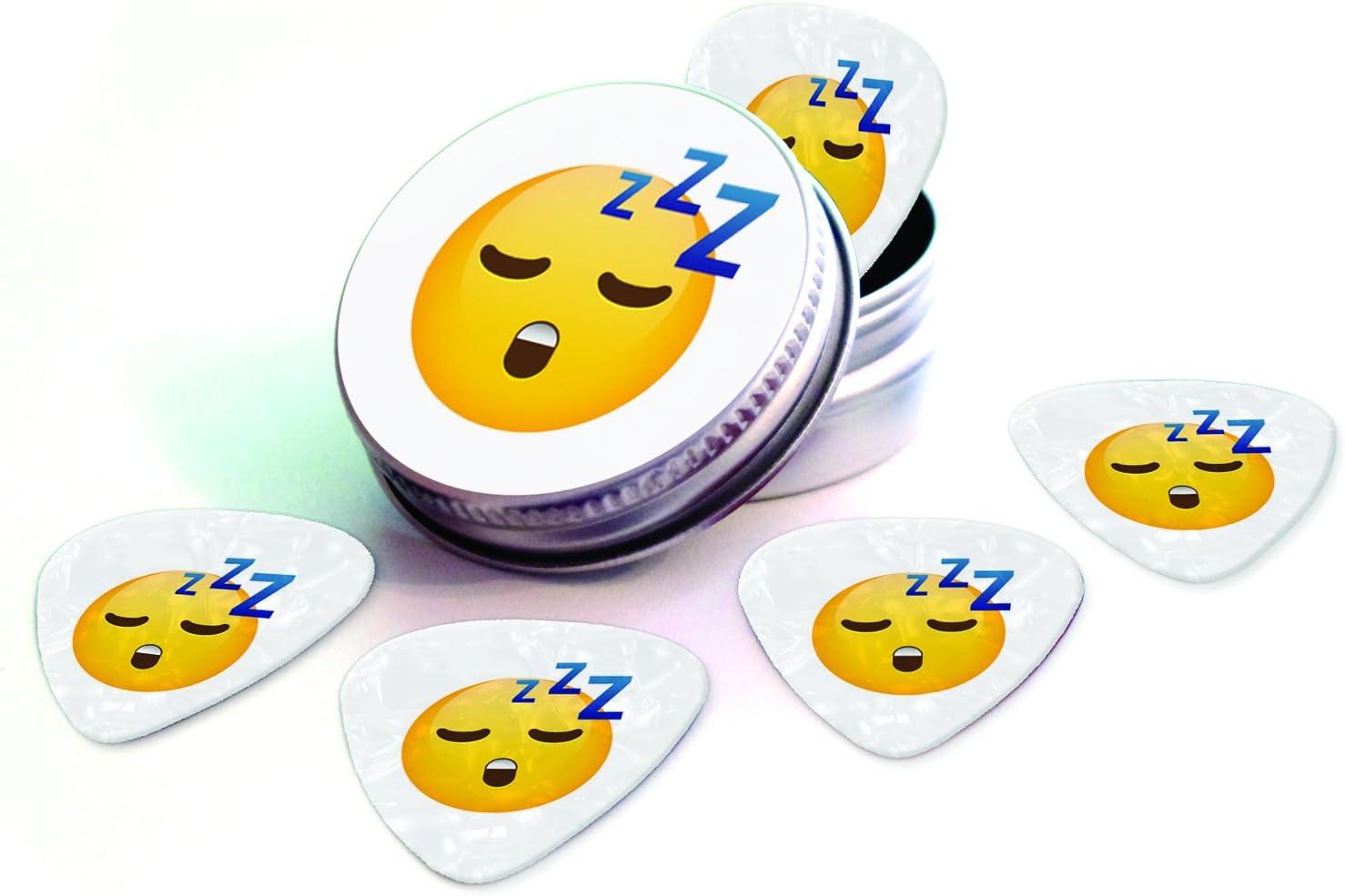 Sleepy dormir Emoji 5 x blanco Pearl Juego de púas para ...