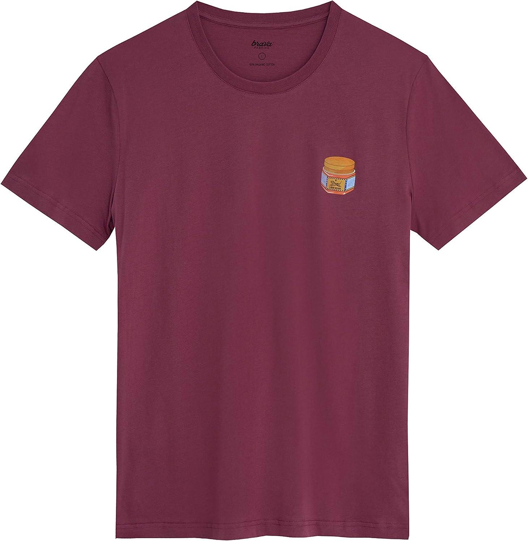 Brava Fabrics - Camiseta Hombre - Camiseta para Hombre - 100% Algodón Orgánico - Modelo Tiger Brava: Amazon.es: Ropa y accesorios