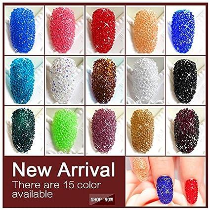 Amazon.com: Minejin Nail Art Mini Rhinestones Micro Crystals Sharp ...