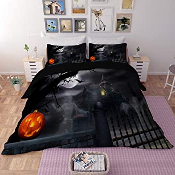 3D The Nightmare Before Christmas Duvet Cover Pillowcase Without Comforter//Quilt