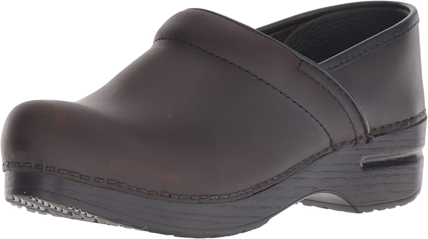Dansko Women's Professional Antique Brown/Blk Clog 11.5-12 M US