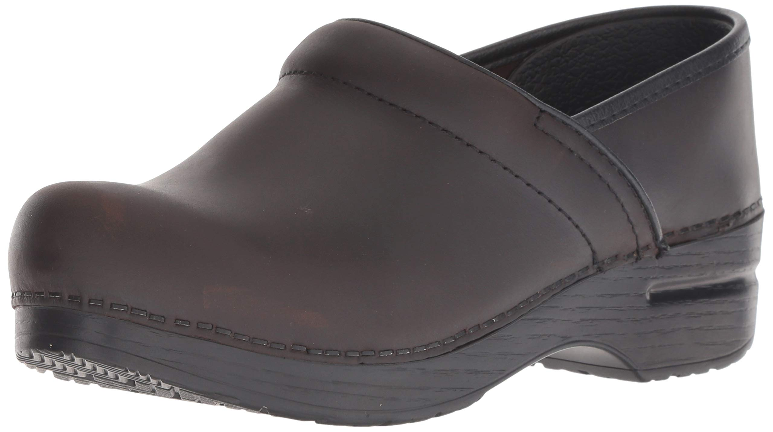 Dansko Women's Professional Mule,Antique Brown - Black Oiled Leather,37 EU/6.5-7 M US