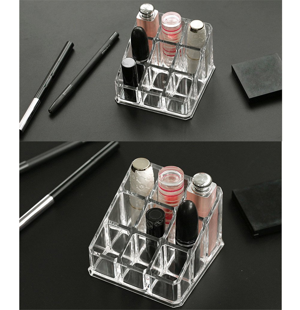 Kangsur Bureau De Maquillage Organisateur Organisation De Table Carr/éE Transparente Salle De Bain