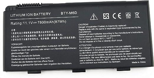K KYUER 7800mAh BTY-M6D Batería para MSI GT60 GT70 2PE-890US GX60 ...