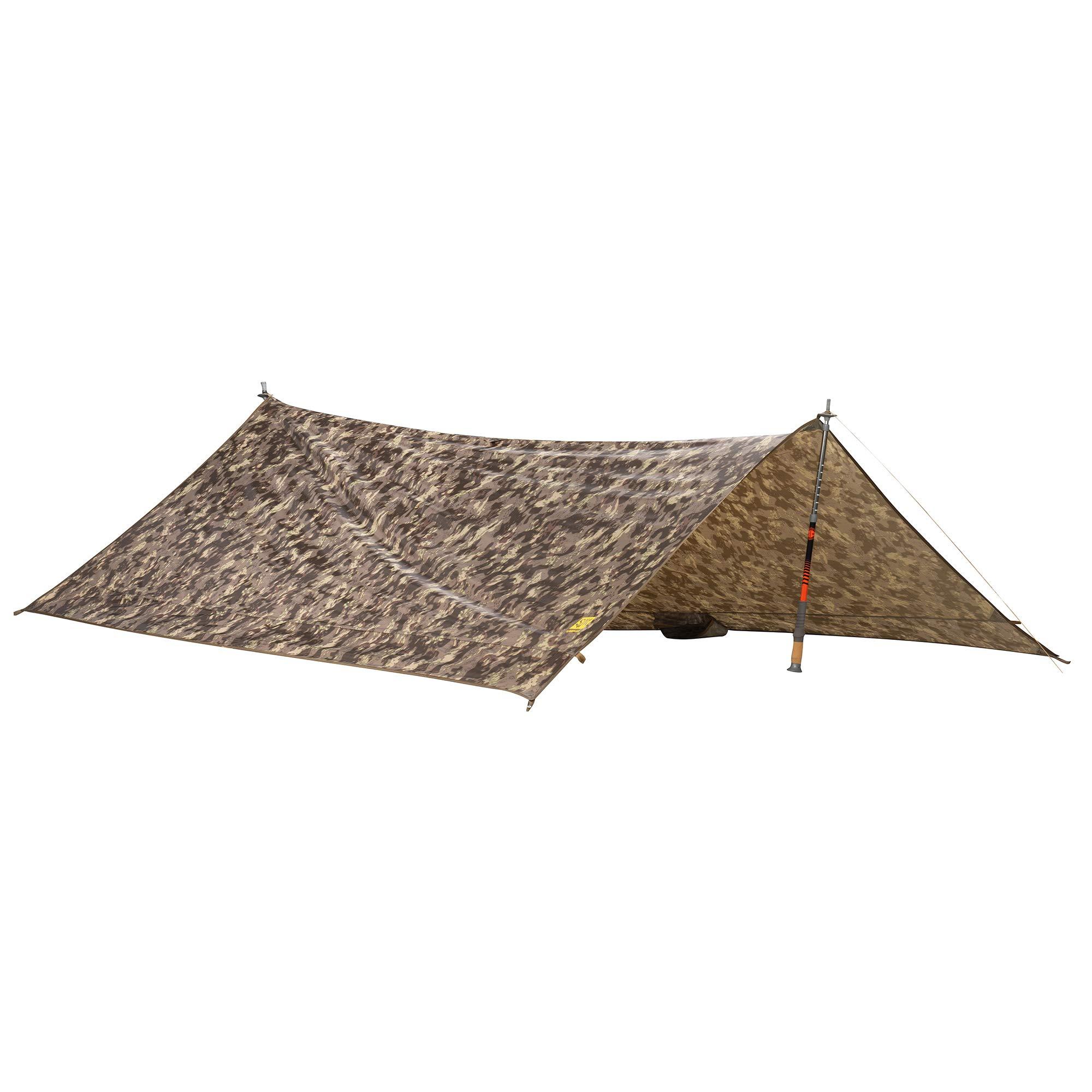 Slumberjack Satellite Tarp & Shelter, Highlander - 10'x8.5' - Compact, Lighweight, Waterproof, Multi-Pitch Camping Tarp by Slumberjack
