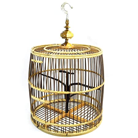 Pájaro jaula - Mano - de bambú/deko diferentes tamaños: Amazon.es ...