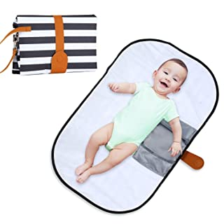 Portable Changing Pad, Aolvo Diaper Clutch Baby Changing Pad Portable Waterproof Pipeable Diaper Changing Pad