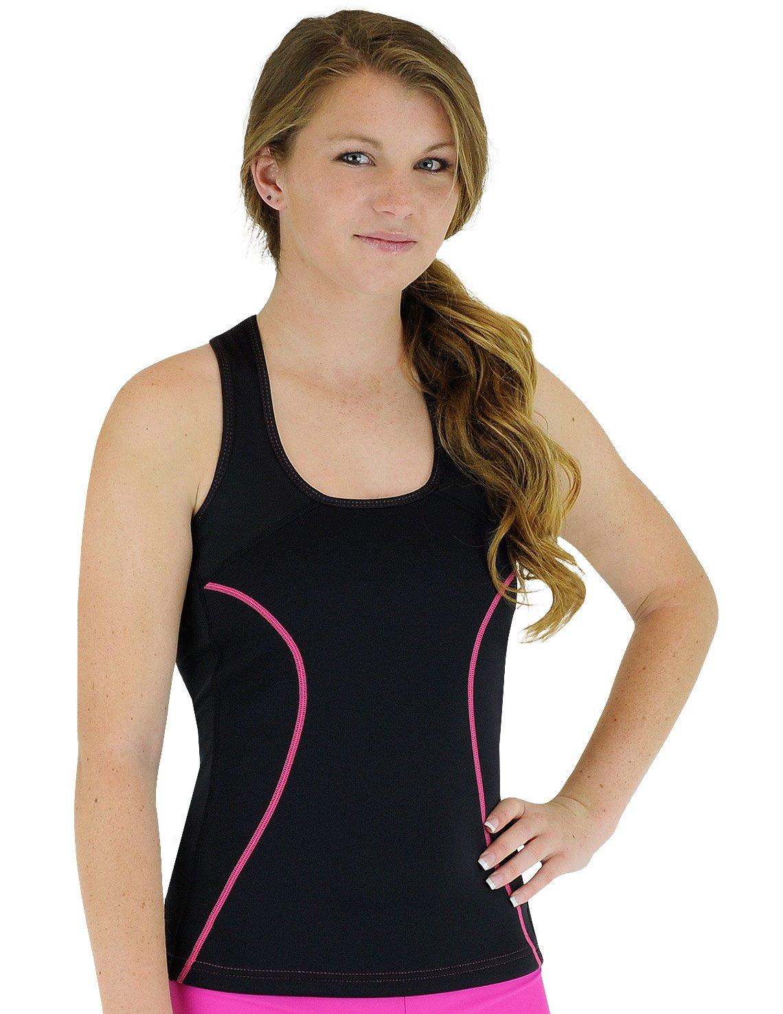Zumba/Fitness-Tankini-Top mit Wärme u. Schwitz-Effekt - aus Neopren mit Bio-Keramik Fasern, von Delfin Spa