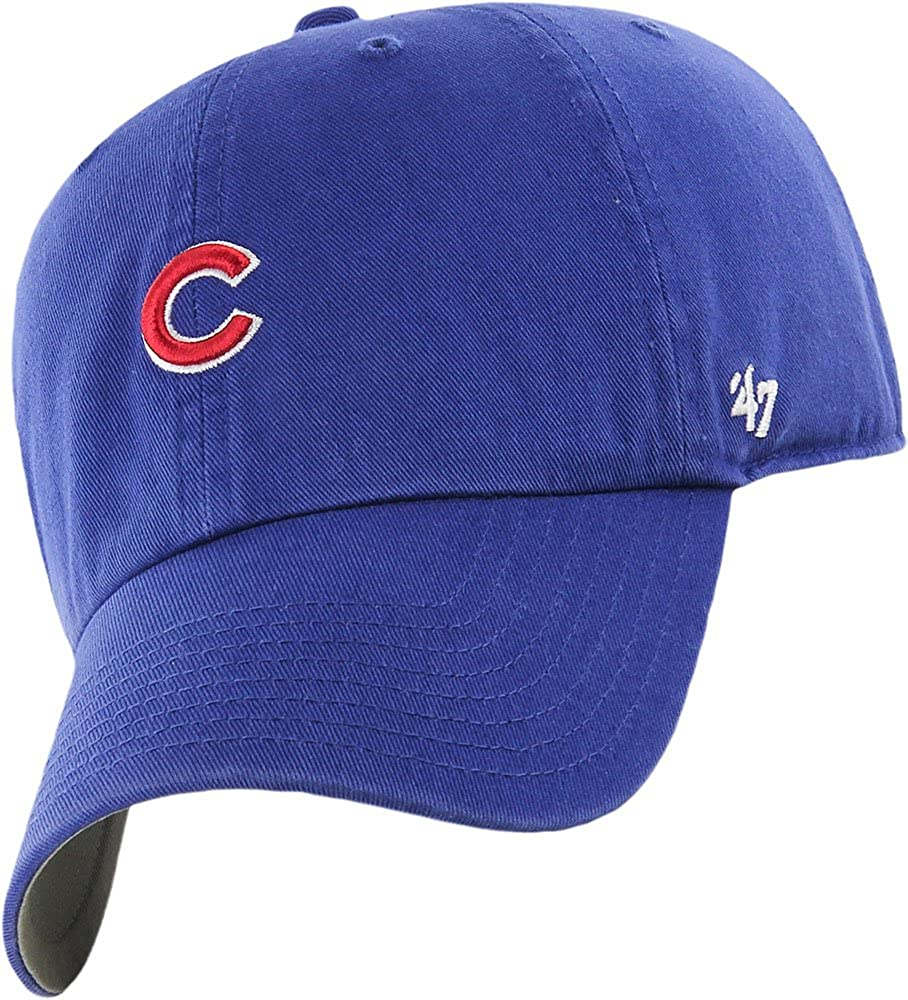 4b56126694b Amazon.com  Chicago Cubs Cap - Royal Abate 47 Brand Clean Up Hat -  Adjustable  Clothing