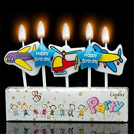 Wondrous Birthday Cake Candles Airplanes Amazon Co Uk Kitchen Home Funny Birthday Cards Online Alyptdamsfinfo