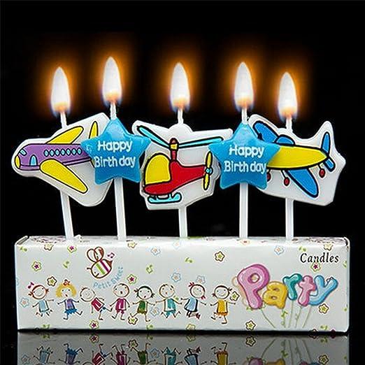 Tarta de cumpleaños velas - Aviones: Amazon.es: Hogar