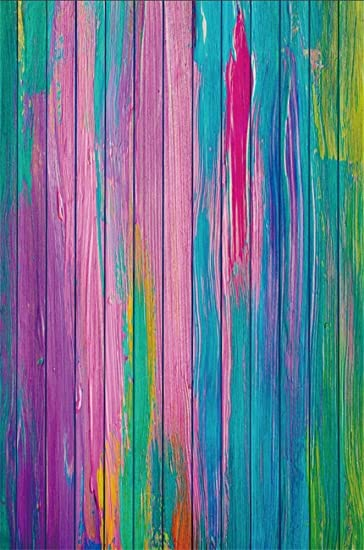 Amazon Com Lfeey 5x7ft Colorful Wood Texture Background