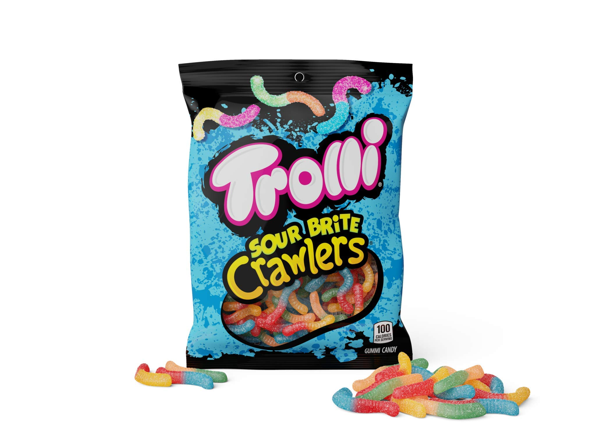 Trolli Sour Brite Crawlers Gummy Candy, 5 Ounce Bag, Pack of 12 by Trolli (Image #6)