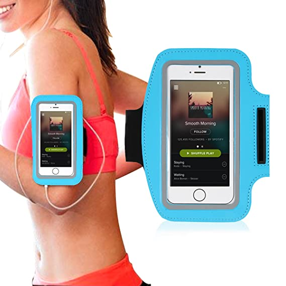 the best attitude f9ad5 9a108 Running Armband - Water Resistant Arm Workout Band - Durable Sports Gym Arm  Band - Universal Screen Protector for iPhone 8 7 6S 6, Samsung Galaxy S3 ...