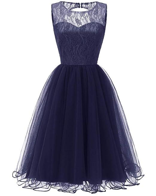 check out 975f1 b31b4 KELUOSI Vestiti Donna Elegante Pizzo Abiti da Cerimonia Mode ...