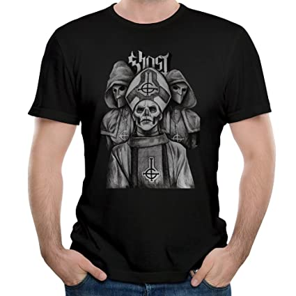 MAGGO Ghost Bc Without Makeup Sketch Poster T Shirts Mens Black