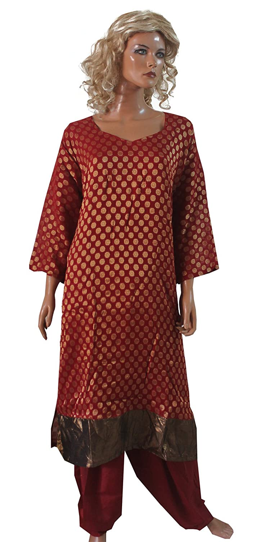 fe9fe65de5 Amazon.com: Apparelsonline Indian Plus Size 54 Inayah Casual Wear Salwar  Kameez (56): Clothing