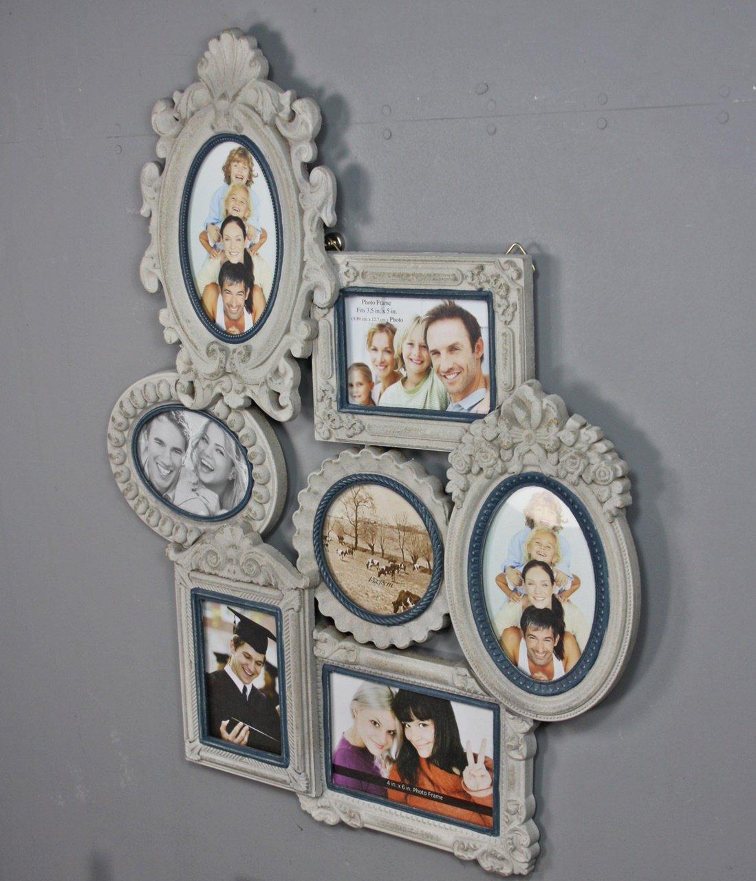 elbmöbel Bilderrahmen Collage shabby chic weiß antik aus Holz ...