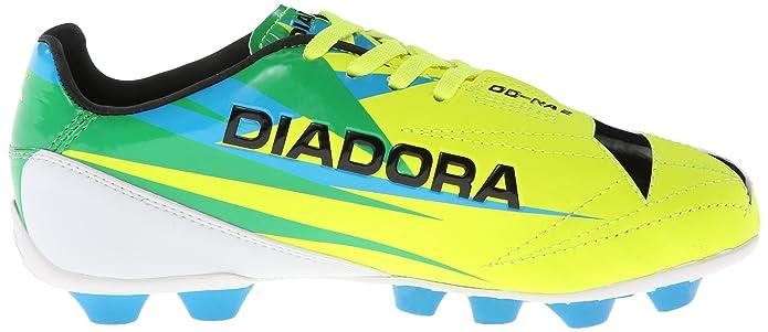 Amazon.com | Diadora Soccer DD NA 2 R MD JR Soccer Cleat (Little Kid/Big Kid), Flourescent Yellow/Green/Black, 6 M US Big Kid | Soccer