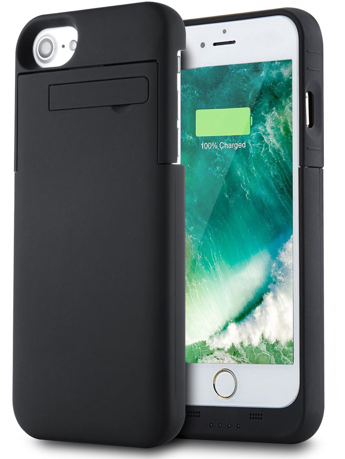 quality 3200mah portable charger for iphone 7 slim battery case black ebay. Black Bedroom Furniture Sets. Home Design Ideas