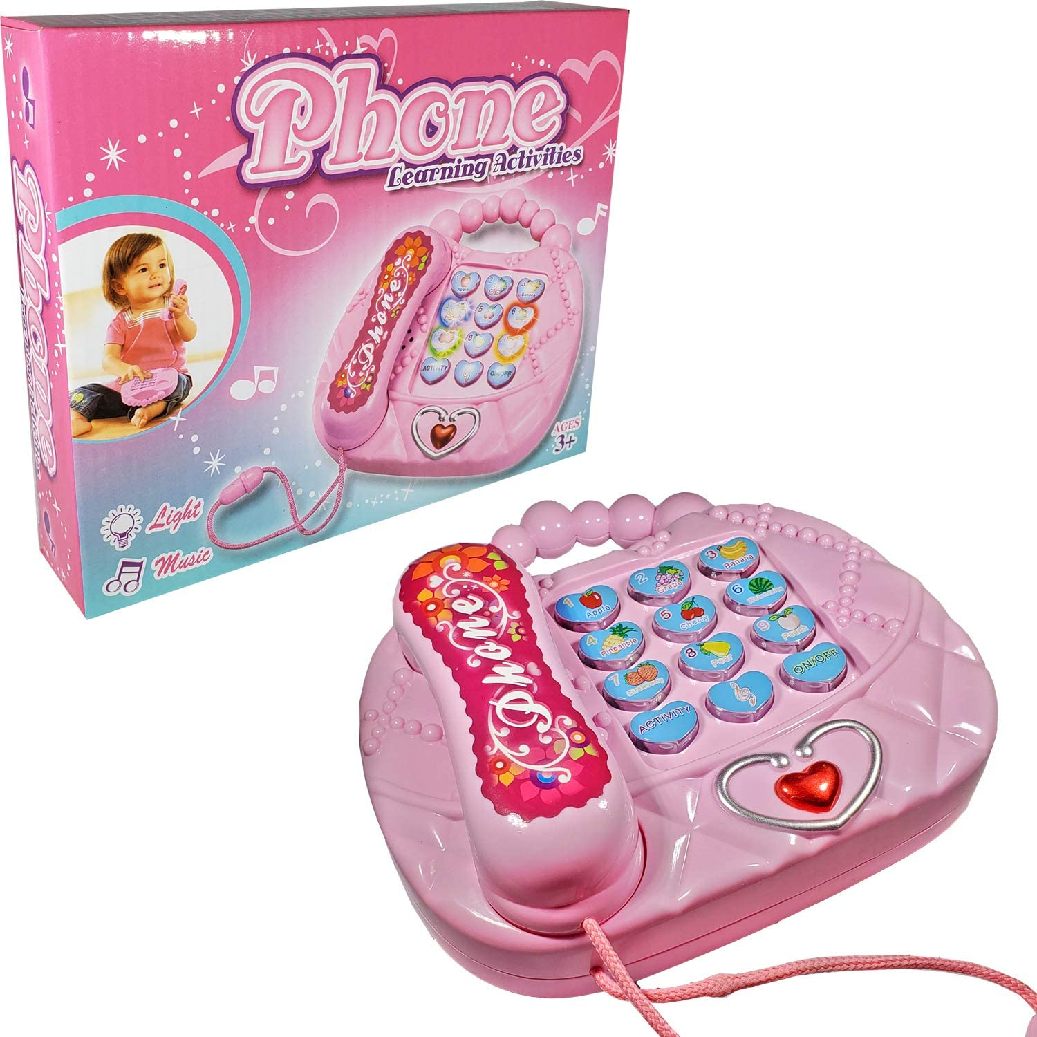 Lovely Toy Phones for Toddlers; 3 Activity Modes Play Phone; Kids Phone Playing Beautiful Lyrics ANJ Kids 2019 Holiday Toy
