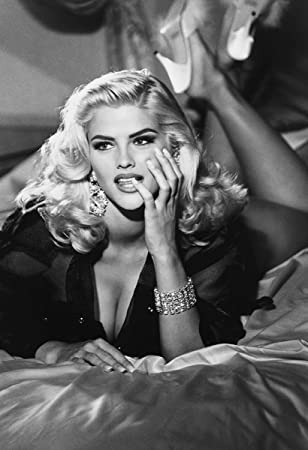 Anna nicole smith poster 13x19 quality black and white print