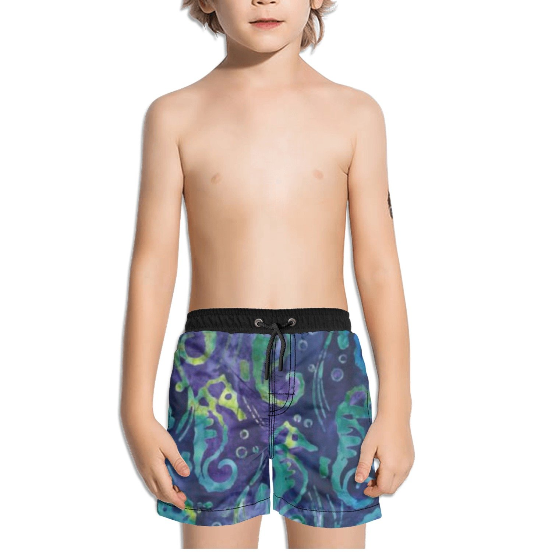 Ouxioaz Boys Swim Trunk Totally Tropical Sea Horses Beach Board Shorts