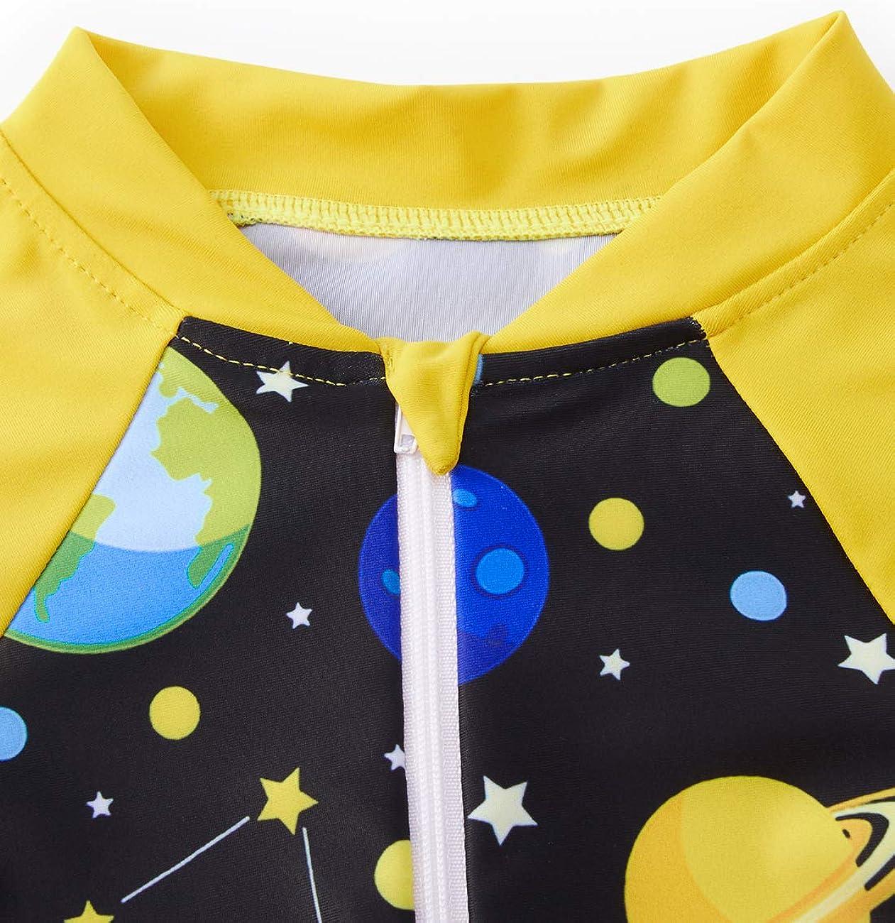 One Piece Long Sleeve Beach Swimwear Bathing Suit Fanient Girls Zipper Rashguard Swimsuit with UPF50