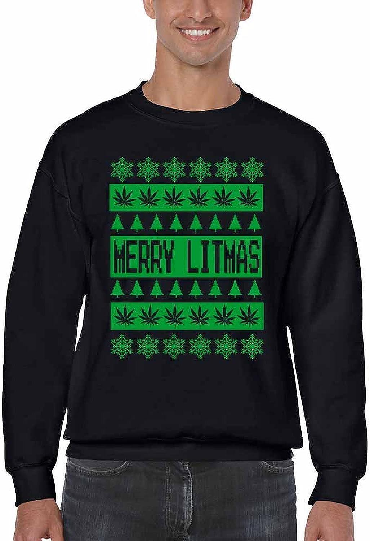 Allntrends Adult Sweatshirt Yea Dat Way Merry Christmas Ugly Party Trendy Gift