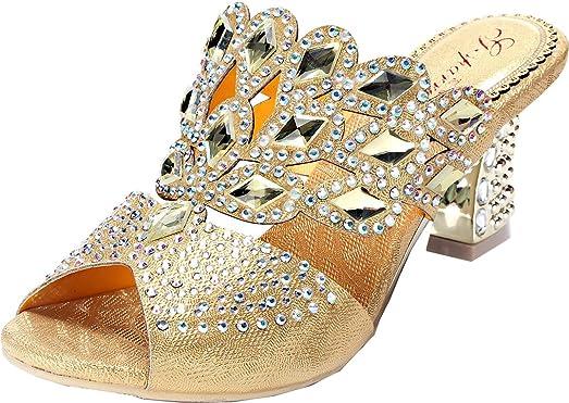 Womens Fashion Comfort Wedding Bridesmaid Work Block Heel PU Sandals