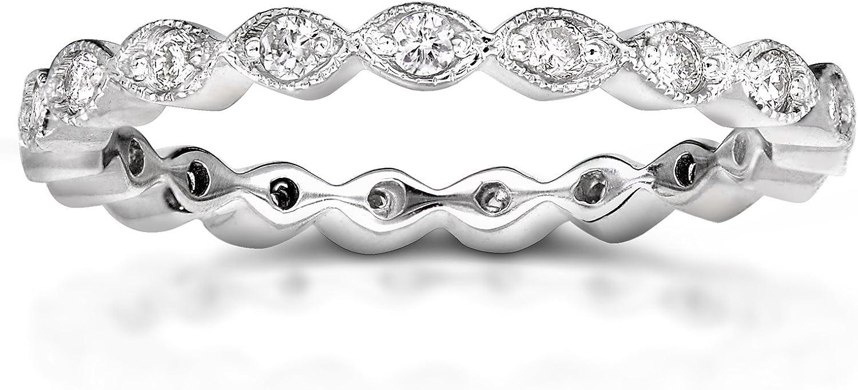 Kobelli Diamond Eternity Band 1/3 carat (ctw) in 14k White Gold