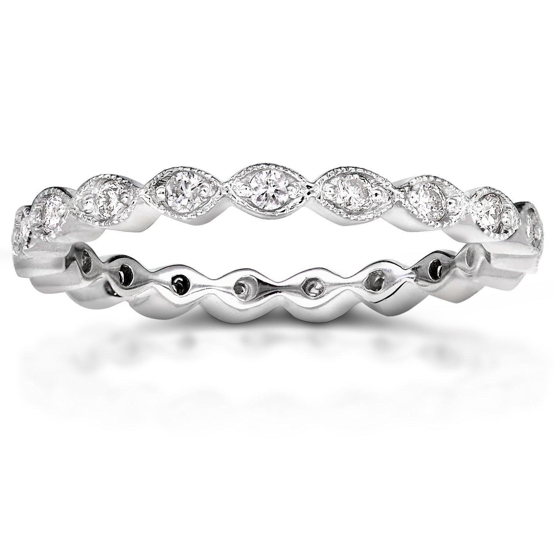 Diamond Eternity Band 1/3 carat (ctw) in 14k White Gold, Size 8, White Gold