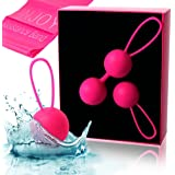 Kegel Balls for Beginners & Advanced - Kegel Weights for Women Pelvic Floor Muscle Exercise, Bladder Control, Post Pregnancy Childbirth Recovery, Ben Wa Balls Sets / Yoni Egg for Sexual Health - InJoy