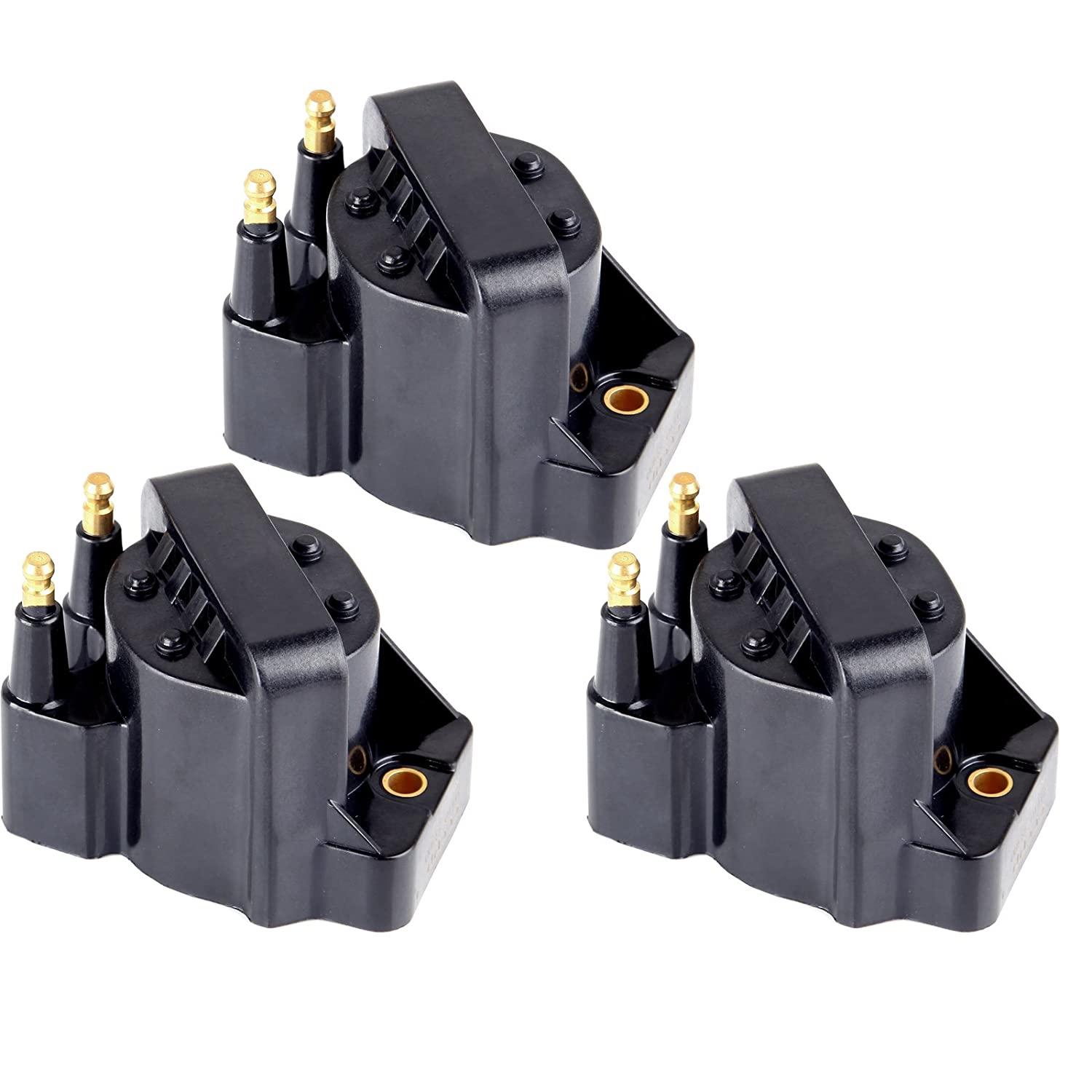 ECCPP Ignition Coils Pack of 3 Compatible with Buick Cadillac GMC Isuzu Pontiac Chevy Honda Oldsmobile1986-2009 Replacement for DR39 C1316 D545