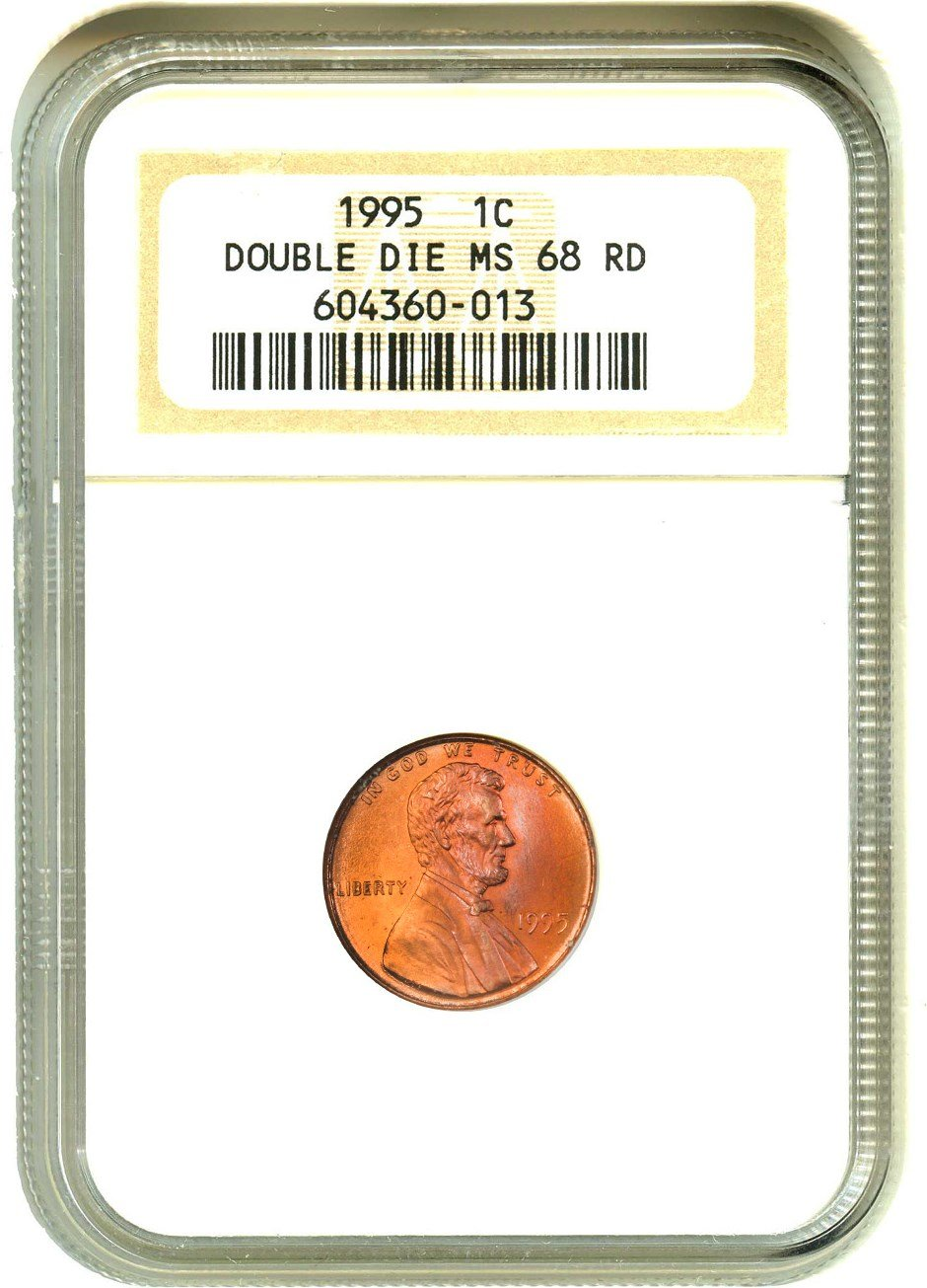 1995 P Lincoln Cents Doubled Die Obverse Cent MS68 NGC RD at