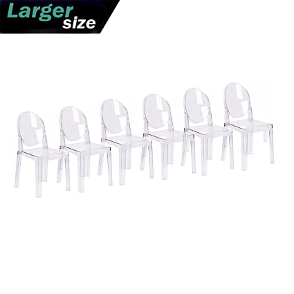 amazon com 2xhome set of six 6 clear large size modern