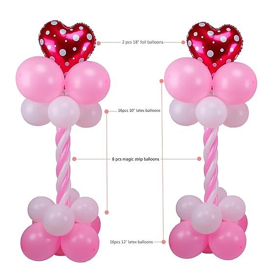 "Amazon.com: Kwayi Balloon Arch 59"" Height 2 Sets Balloon Pump ..."