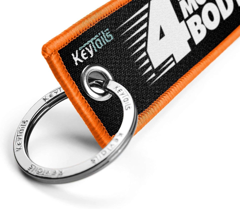 utv qualit/à Premium Key Tag per Moto ATV KEYTAILS Portachiavi Orange Scooter 4/Wheels Move The Body, 2/Wheels Move The Soul