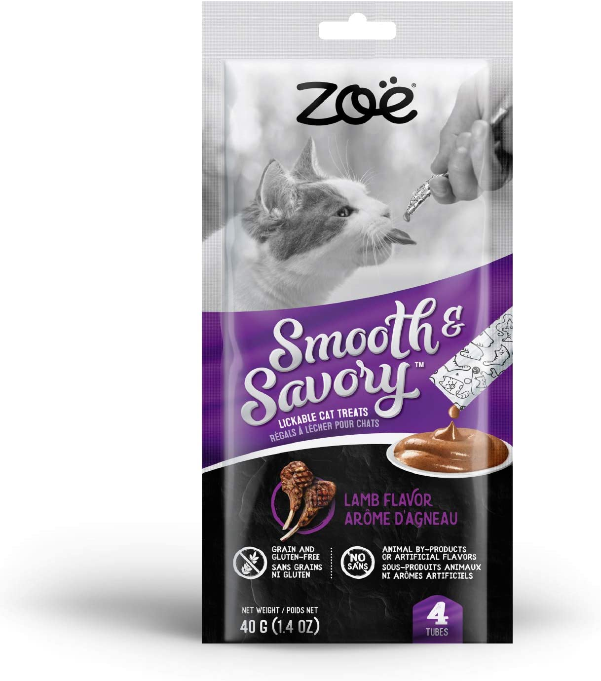 4 Pack Chicken /& Liver Zoe Smooth /& Savory Lickable Treats