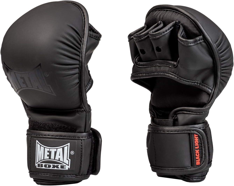 METAL BOXE Gants MMA dentrainement Noir