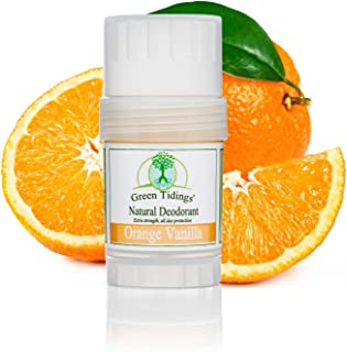product image for Green Tidings Natural Deodorant Orange Vanilla - Vegan, Organic Deodorant for Men and Women, Fragrance Free & Aluminum Free Deodorant, Underarm Antiperspirant 1 Oz 1 Pack