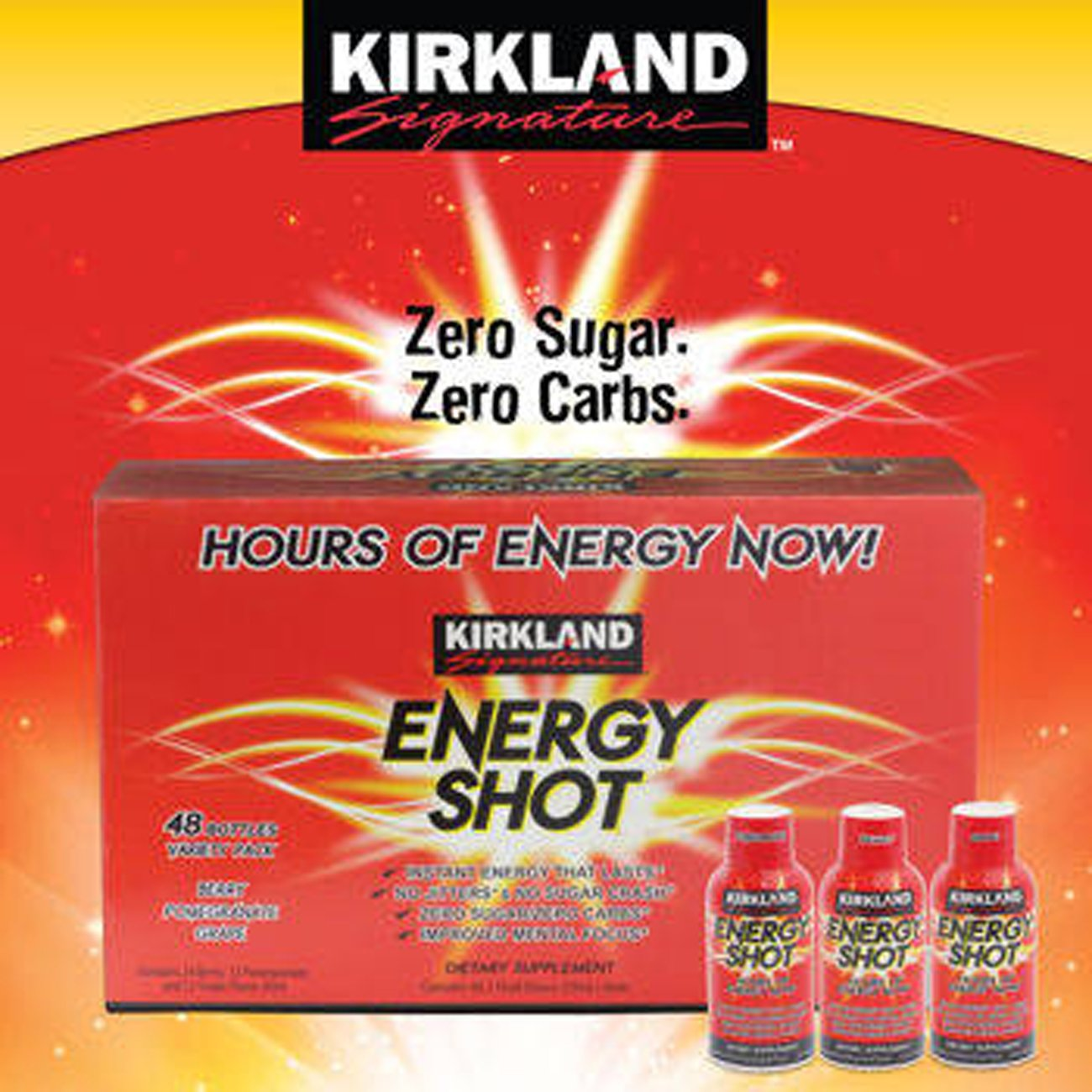 Kirkland Signature™ Energy Shot 48 Count, 2 Ounces Each