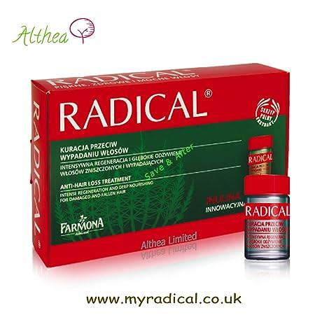 Radical Serum ampollas stärk Kur contra caída del cabello 5 x 5ml   Amazon.es  Belleza 61c3e47ad3dd