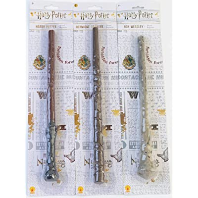 Bundle - 3 items: Harry Potter, Ron Weasley, and Hermione Granger Magic Wands: Toys & Games